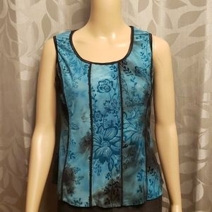 Floral Bodice Style Tank Top